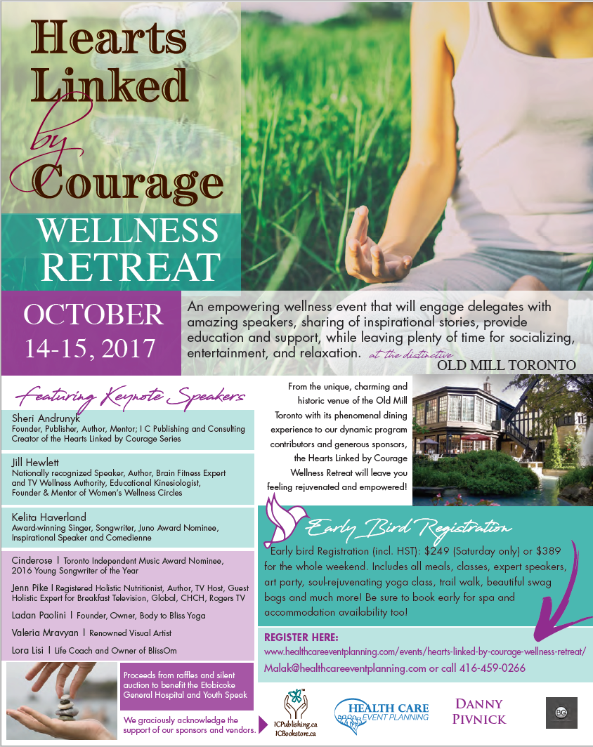 Hearts Linked by Courage Wellness Retreat Flyer