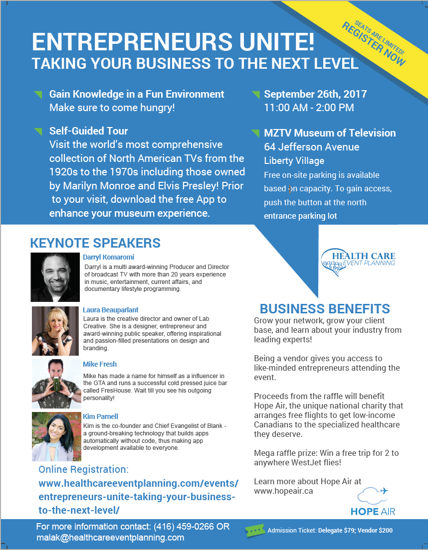 Entrepreneur Event Flyer!